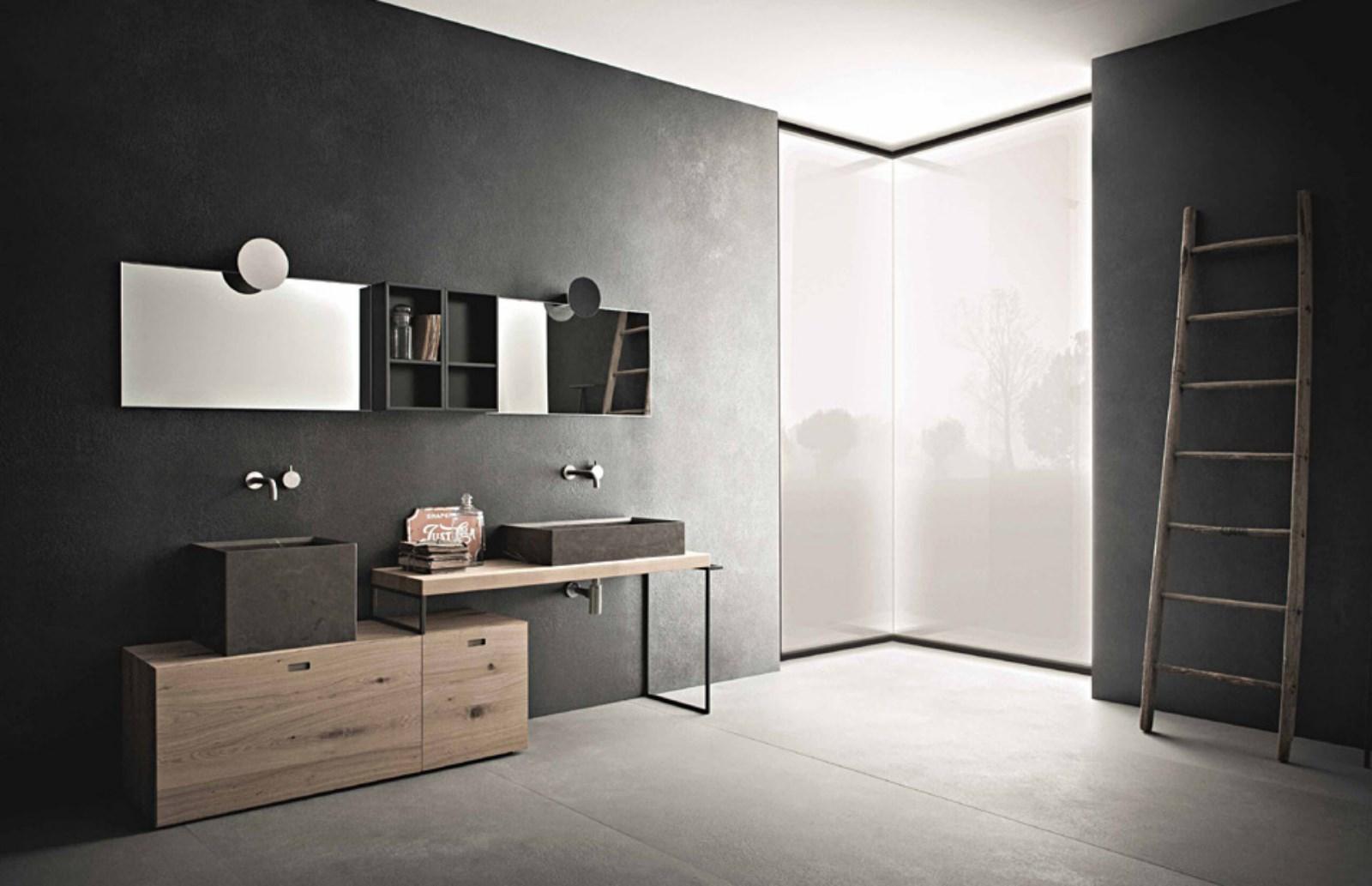 Meuble Salle De Bain Design Contemporain meuble de salle de bain contemporain novello - carrelage du