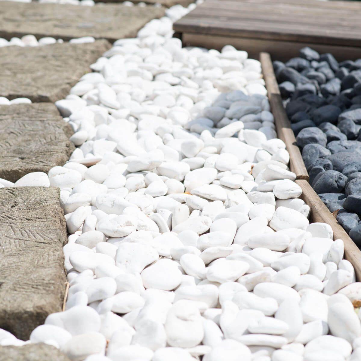Amenagement Exterieur Galet Blanc galets & gravillions - carrelage du monde
